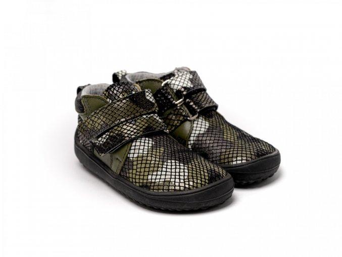 Dětské barefoot boty Be Lenka Play - Army | Zelenáčky
