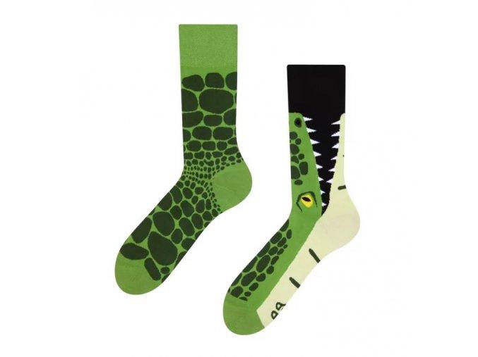 Veselé ponožky Krokodýl | Zelenáčky