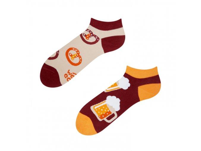 Kotníkové veselé ponožky Pivo | Zelenáčky