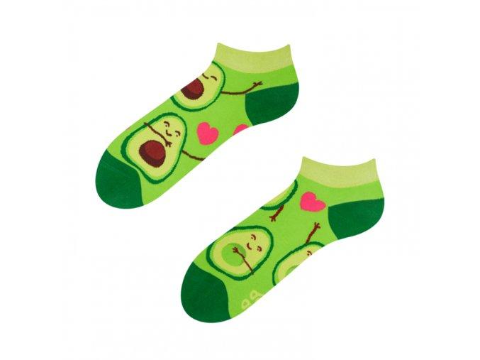 Kotníkové veselé ponožky Avokádová láska | Zelenáčky