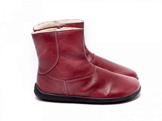 Barefoot kotníkové boty Be Lenka Polar – Ruby | Zelenáčky