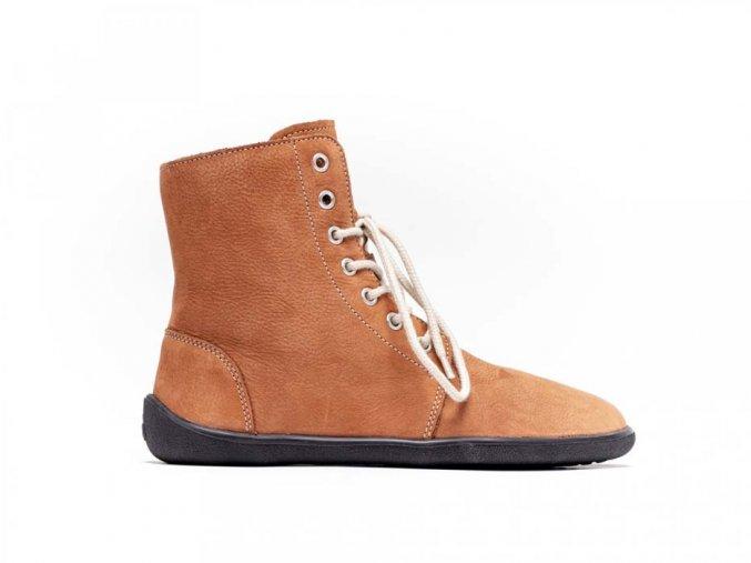 Barefoot kotníkové boty Be Lenka Winter – Cognac | Zelenáčky