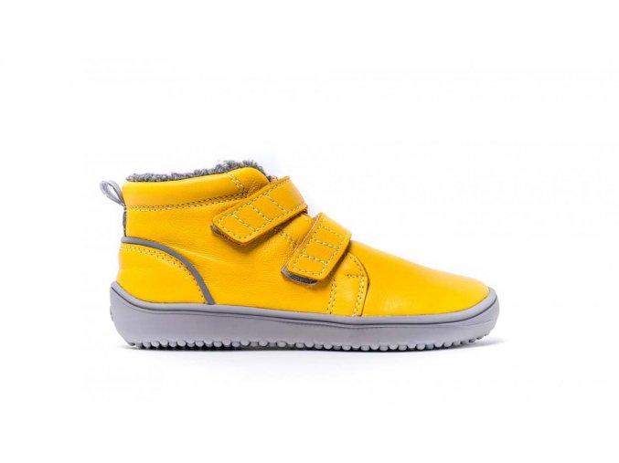 Dětské zimní barefoot boty Be Lenka Penguin - Yellow | Zelenáčky