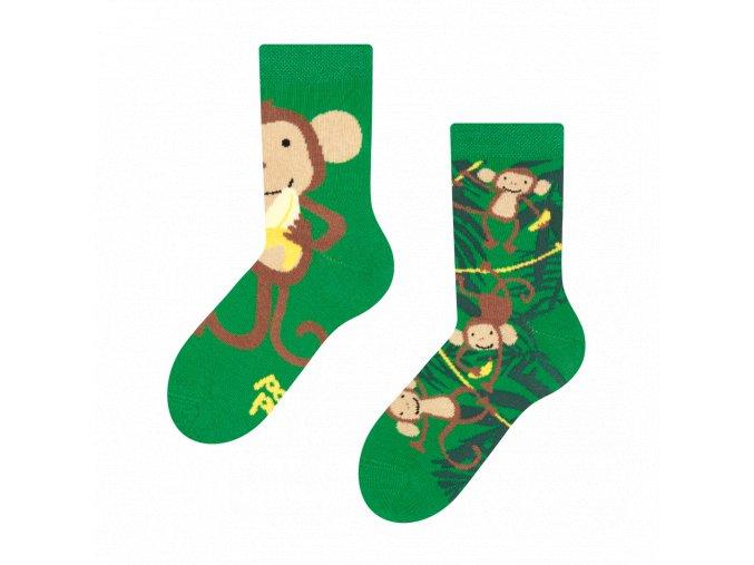 Dětské veselé ponožky Opice | Zelenáčky