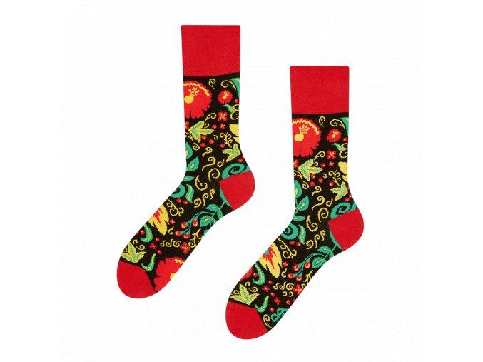 Veselé ponožky Folk | Zelenáčky
