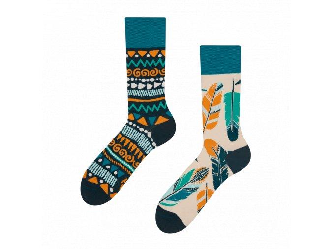Veselé ponožky Peříčka | Zelenáčky