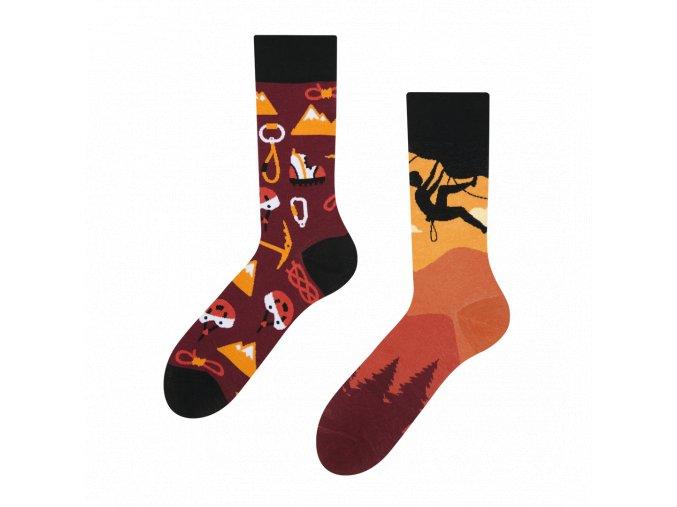 Veselé ponožky Horolezectví | Zelenáčky
