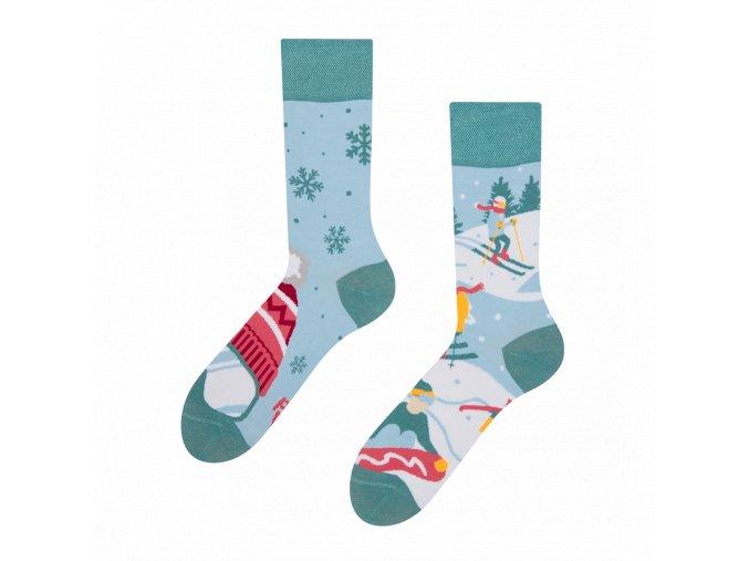 Veselé ponožky Lyže | Zelenáčky