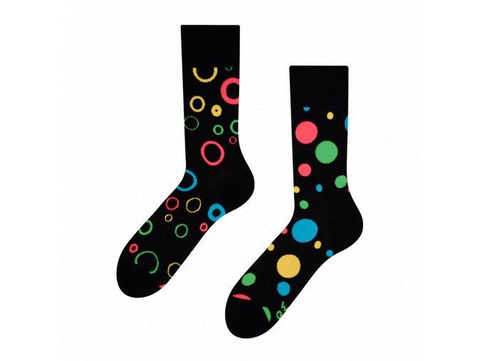 Veselé ponožky Neonové tečky   Zelenáčky