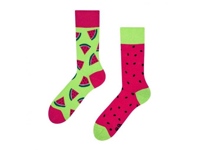 Veselé ponožky Červený meloun | Zelenáčky