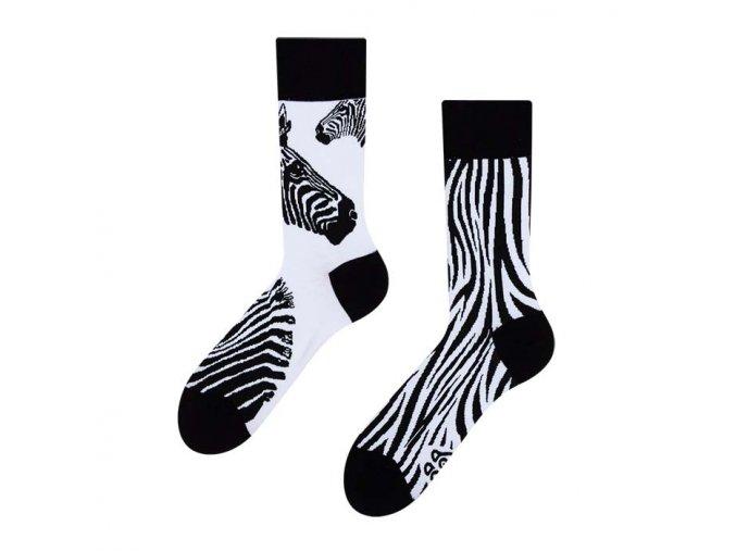 Veselé ponožky Zebra | Zelenáčky