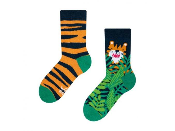 Dětské veselé ponožky Tygr | Zelenáčky