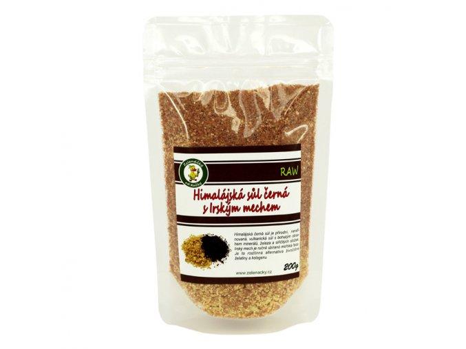 Hialájská sůl černá s irským mechem - Zelenáčky