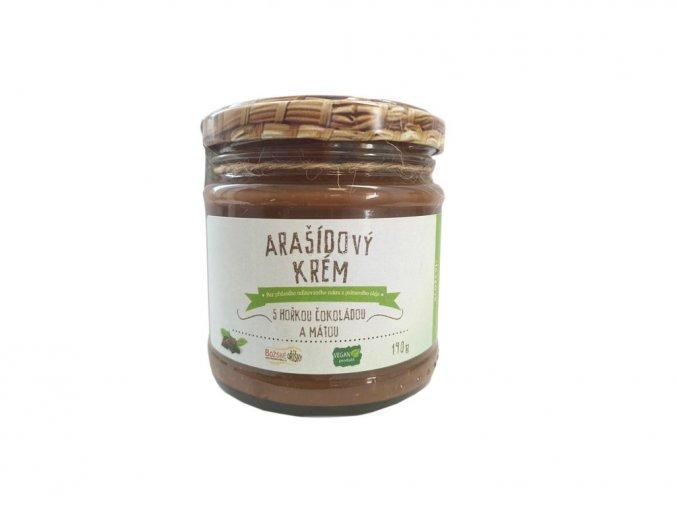 Arašídový krém s hořkou čokoládou a mátou 190 g | Zelenáčky