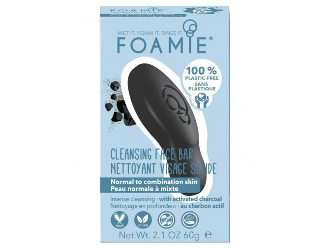 Foamie Cleansing Face Bar Too Coal to Be | Zelenáčky