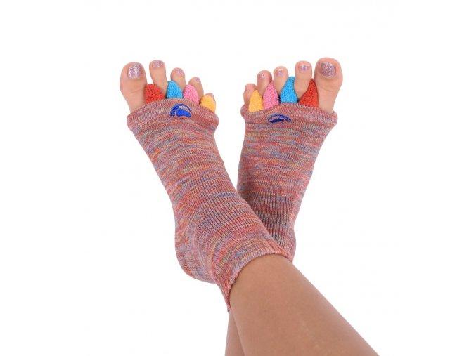 Adjustační ponožky Happy Feet barevné   Zelenáčky