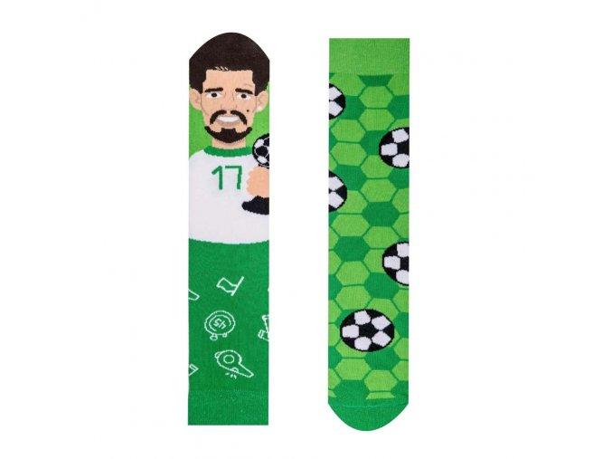 Veselé ponožky Fotbalista   Zelenáčky