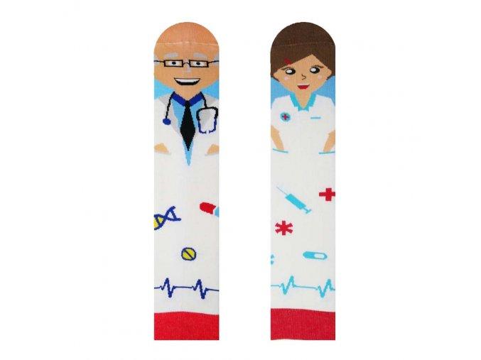 Veselé ponožky Doktor a sestřička   Zelenáčky