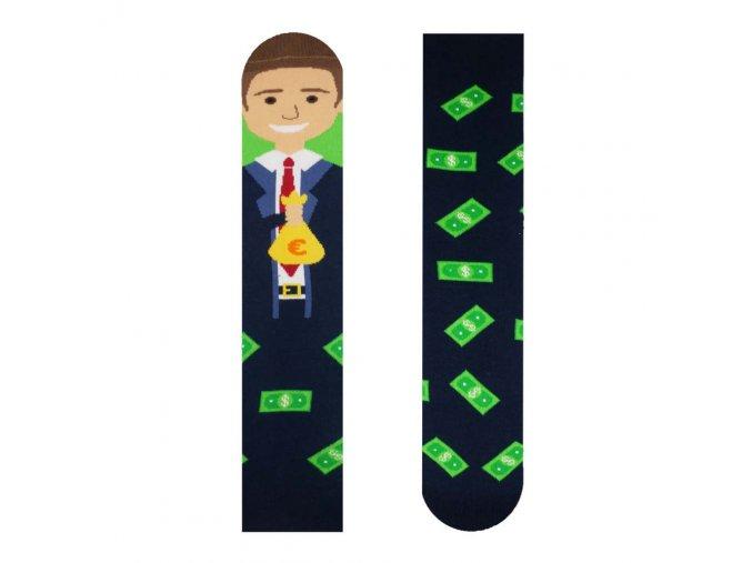 Veselé ponožky Money maker | Zelenáčky