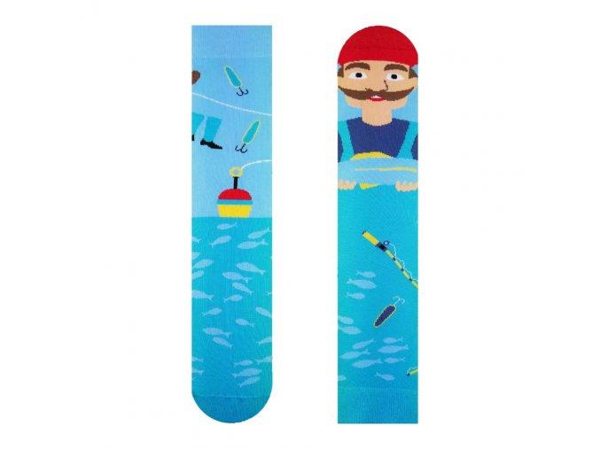 Veselé ponožky Rybář   Zelenáčky