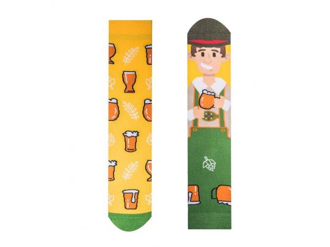 Veselé ponožky Pivař   Zelenáčky