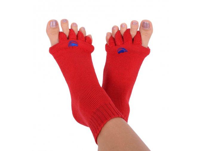 Adjustační ponožky Happy Feet červené   Zelenáčky