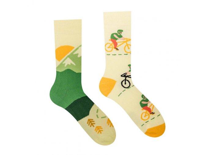 Veselé ponožky Cyklista | Zelenáčky