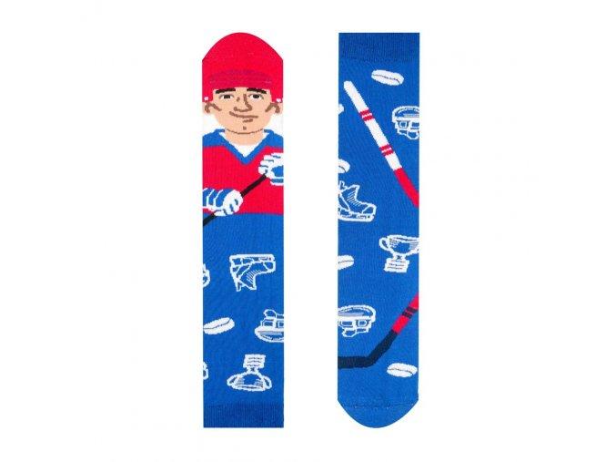 Veselé ponožky Hokejista   Zelenáčky