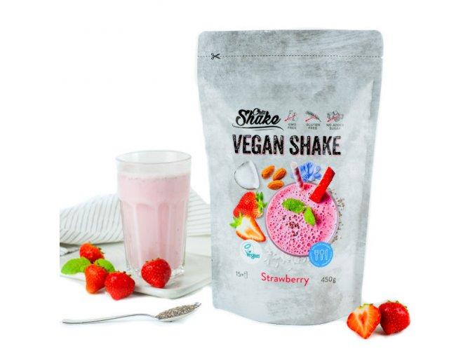 Proteinový nápoj Vegan Protein Shake – Jahoda