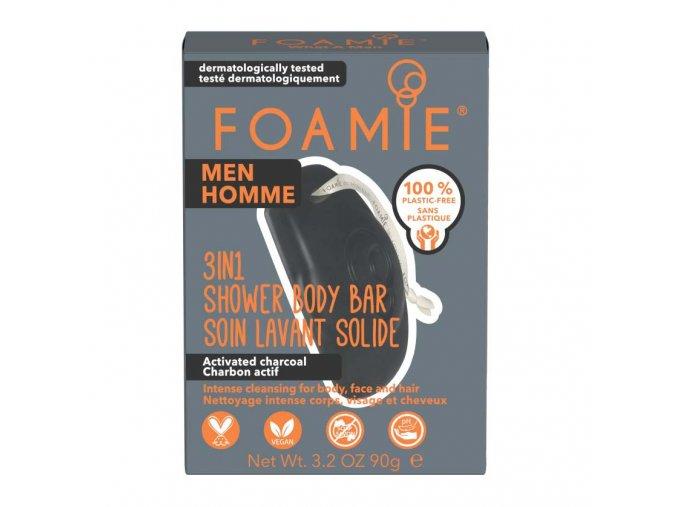 Foamie 3in1 tuhé mýdlo a šampon pro muže What A Man   Zelenáčky
