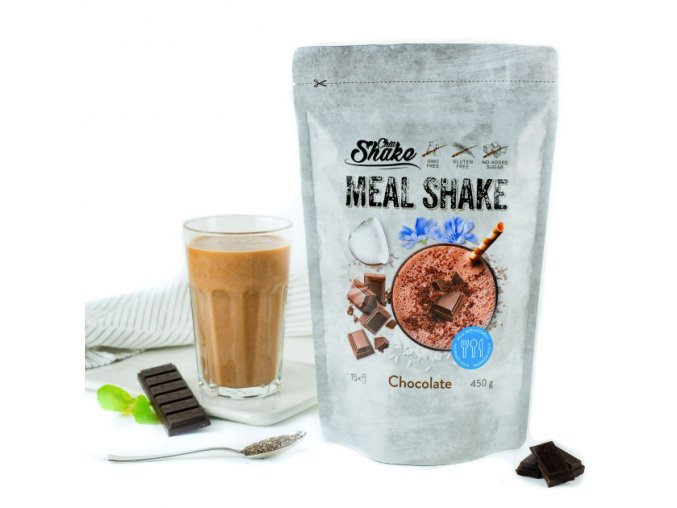 Chia Meal Shake fitness koktejl čokoláda | Zelenáčky