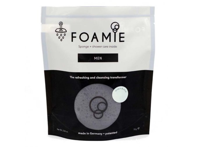 Foamie Men Version - Houbička s čistící krémovou pěnou pro muže