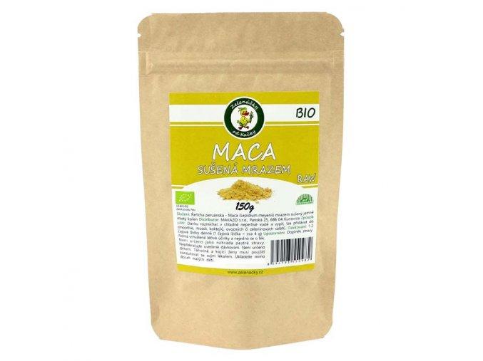 Maca BIO - prášek z kořene řeřichy peruánské sušený mrazem- Zelenáčky