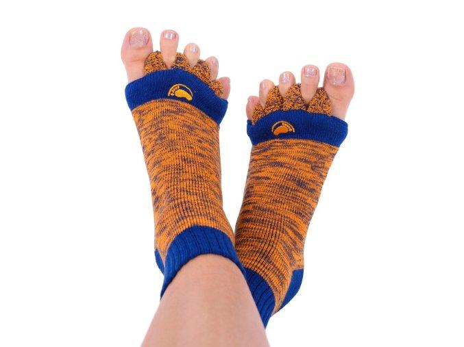 Adjustační ponožky Happy Feet modro-oranžové   Zelenáčky