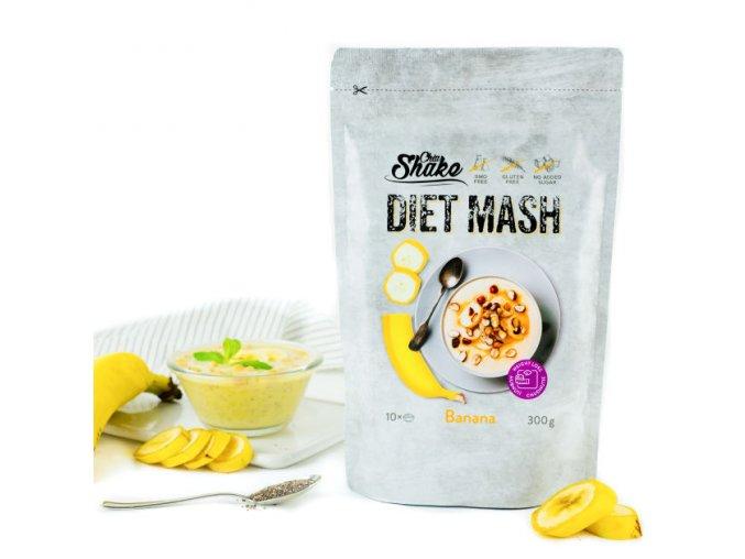 Chia shake dietní kaše banán