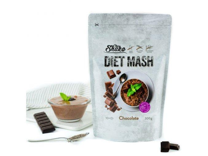 Chia shake dietní kaše čokoláda