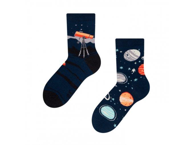 Dětské veselé ponožky Vesmír