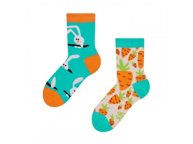 Dětské veselé ponožky Zajíc a mrkev