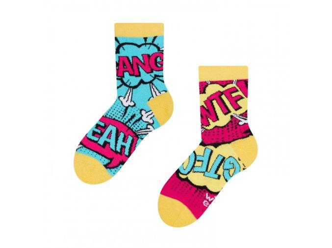 Dětské veselé ponožky Komiks