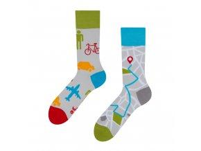 Veselé ponožky Mapy