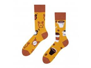 Veselé ponožky Čas na kávu
