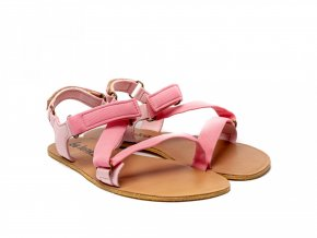 Stylové barefoot textilní sandály Be Lenka Flexi - Pink | Zelenáčky