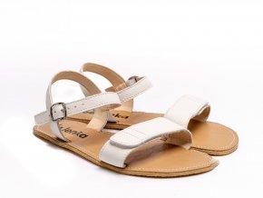 Stylové barefoot kožené sandálky Be Lenka Grace - White | Zelenáčky