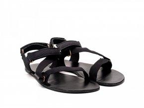 Stylové barefoot textilní sandály Be Lenka Flexi - Black | Zelenáčky