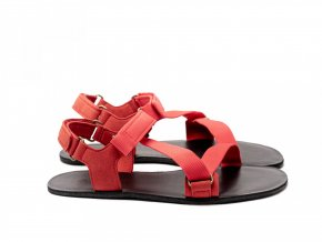 Barefoot textilní sandály Be Lenka Flexi - Red | Zelenáčky