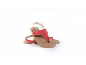 Barefoot kožené sandály Be Lenka Promenade - Red   Zelenáčky