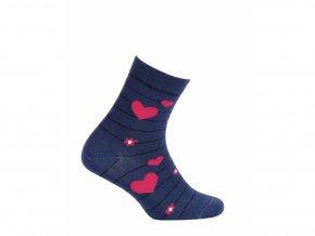 Dětské ponožky Gatta Srdíčka modré