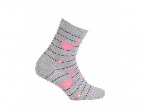 Dětské ponožky Gatta Srdíčka šedé