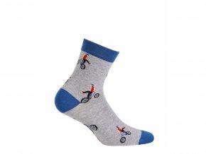 Dětské ponožky Wola Kolo šedé
