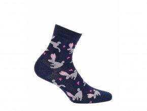 Dětské ponožky Wola Králíci modré
